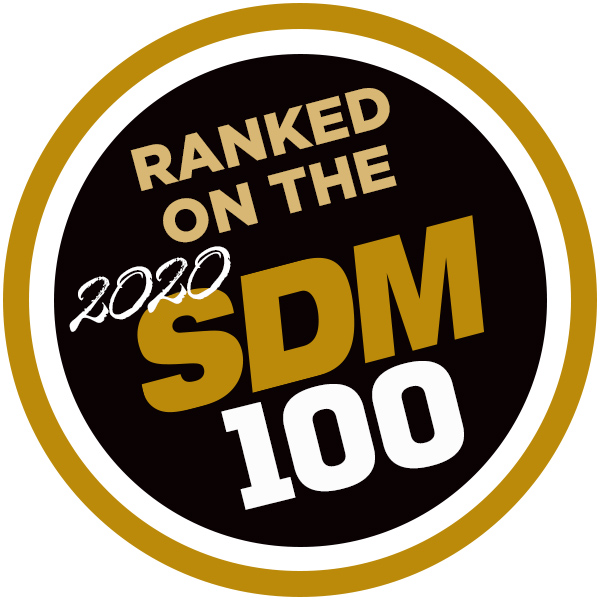 2020 SDM 100 Report badge